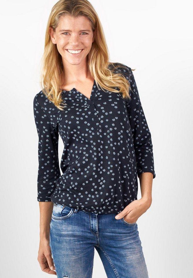 CECIL Shirt mit Punkten Alice in deep blue