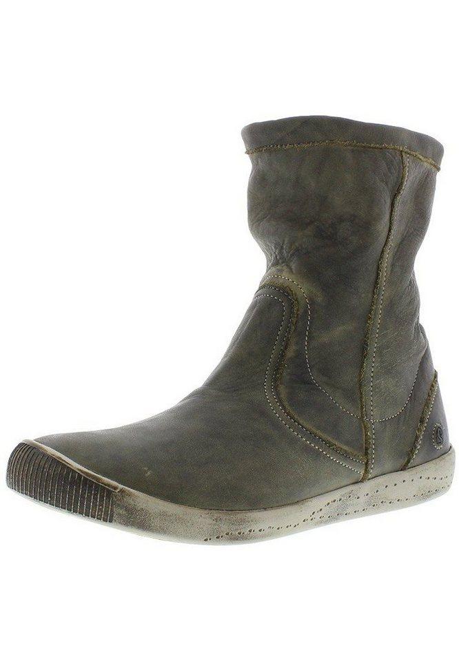 softinos Klassischer Stiefel »Iggy washes leather« in grün