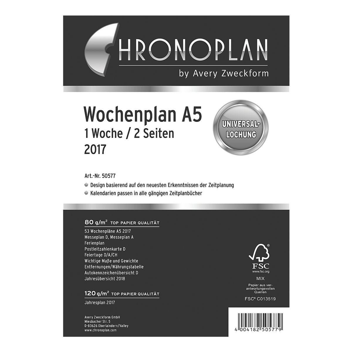 CHRONOPLAN Wochenplan 2017
