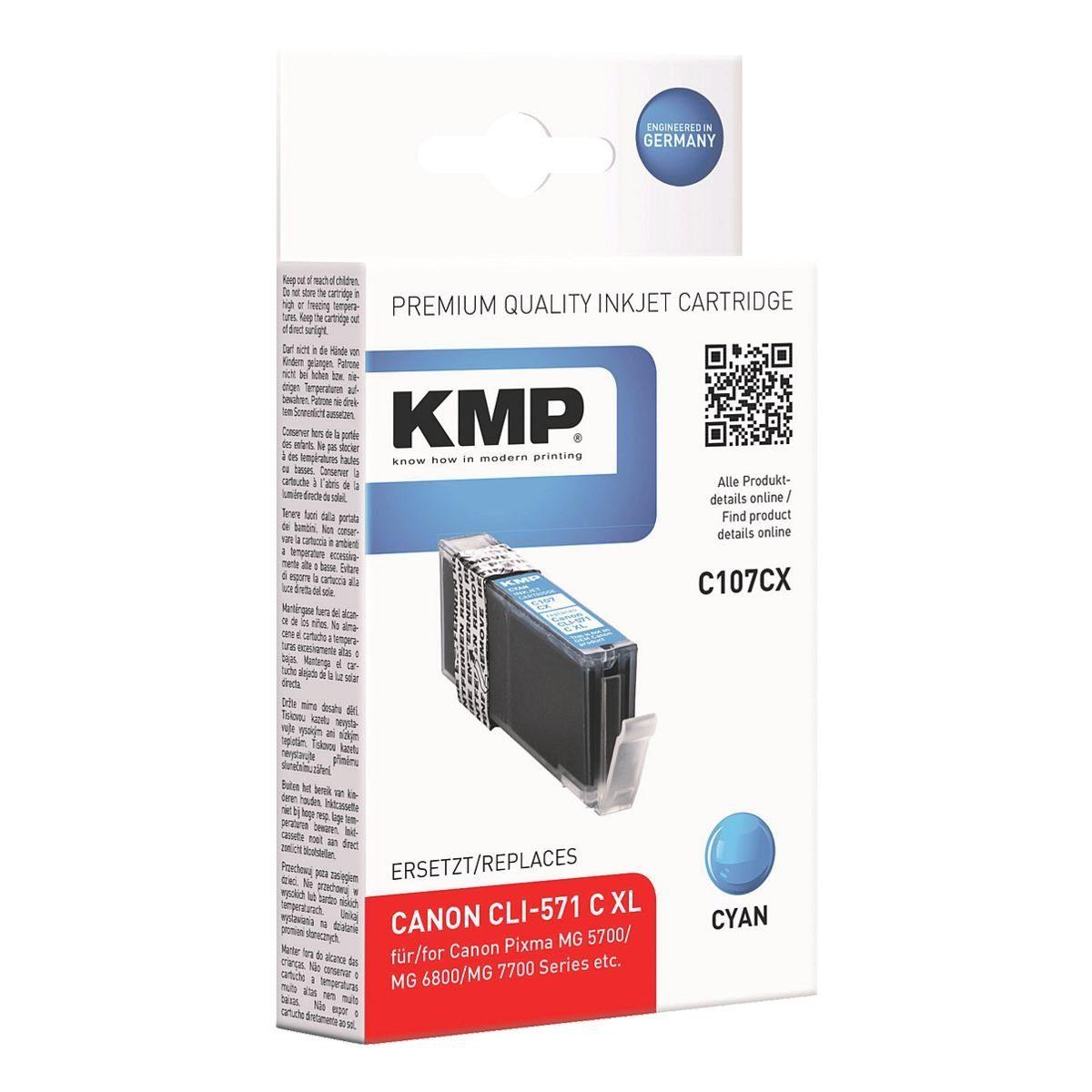 KMP Tintenpatrone ersetzt »CLI-571C XL«