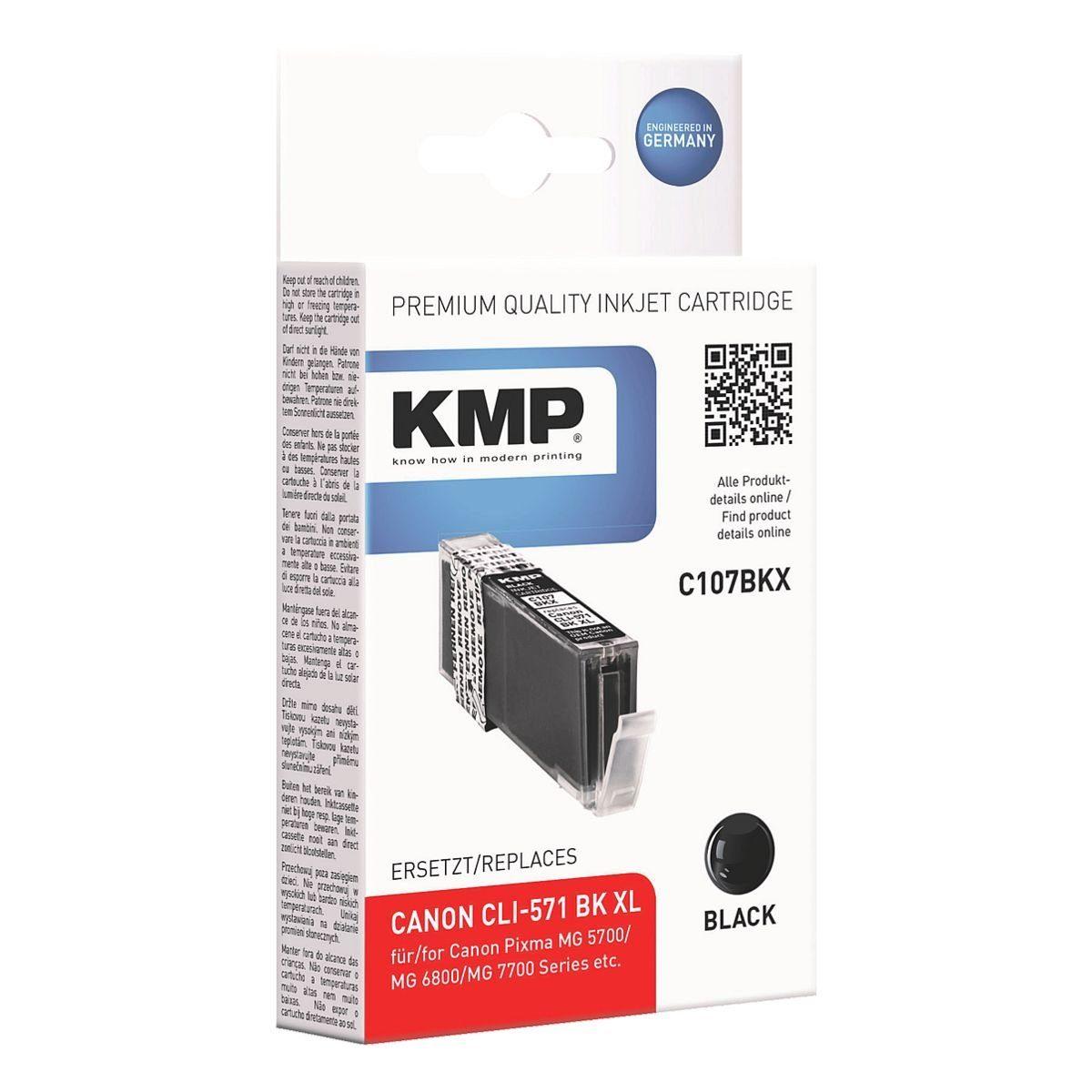 KMP Tintenpatrone ersetzt Canon »CLI-571BX XL«