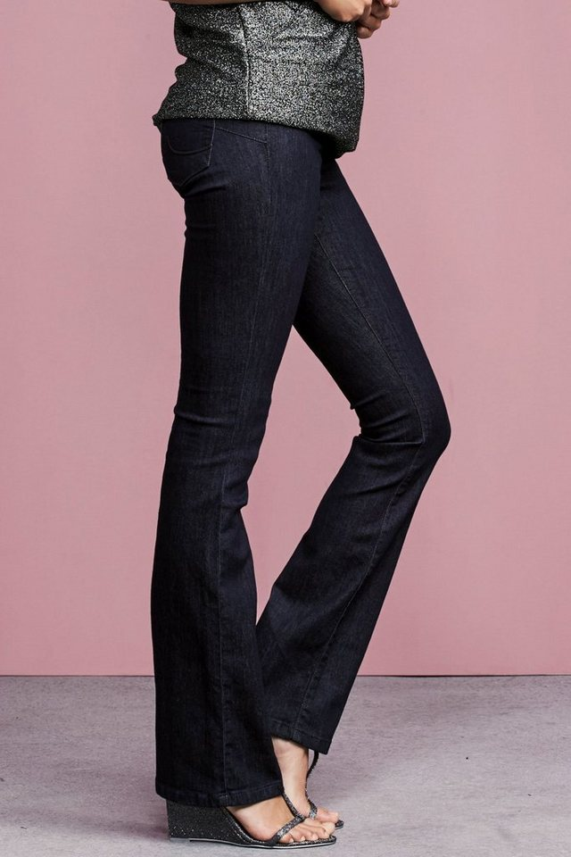 Next Lift, Slim And Shape Boot-Cut-Jeans in Blue Rinse