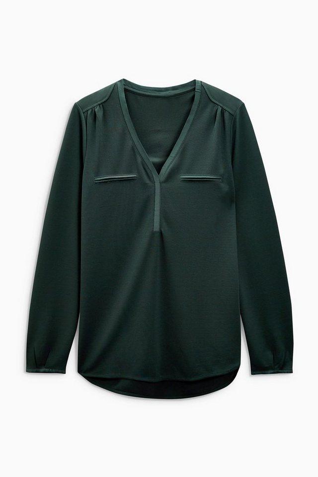 Next Langarm-Hemd in Green