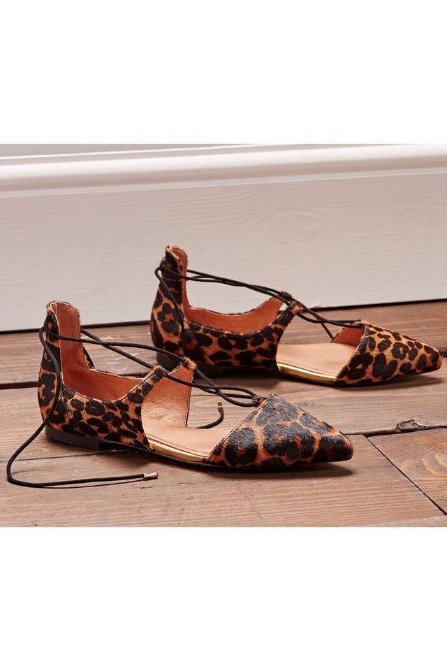 Next Spitze Ghillie-Schuhe in Animal Print