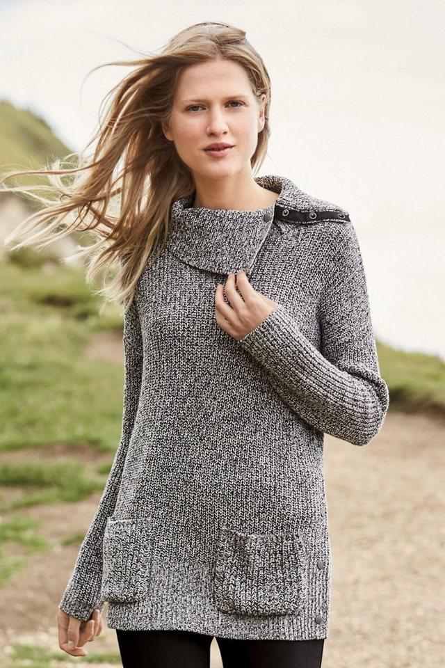 Next Pullover mit Druckknöpfen in Monochrome