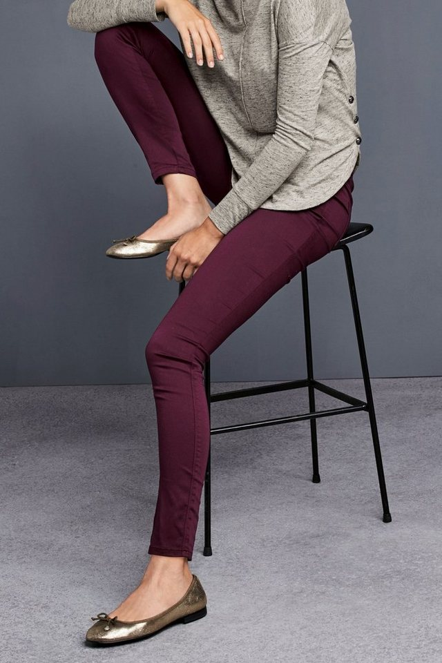 Next Denim-Leggings in Dark Berry
