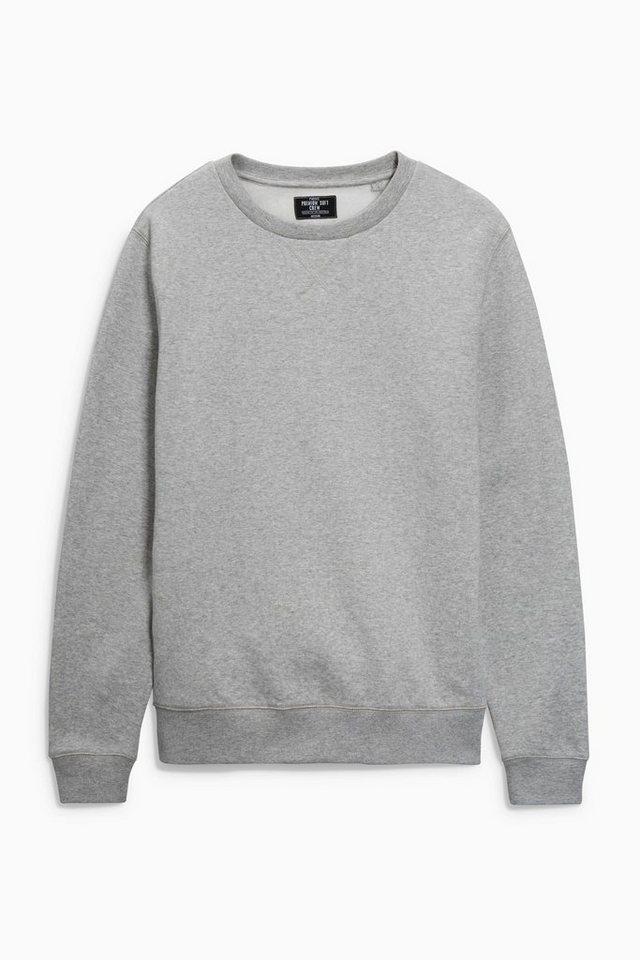 Next Sweatshirt mit Rundhalsausschnitt in Grey Marl