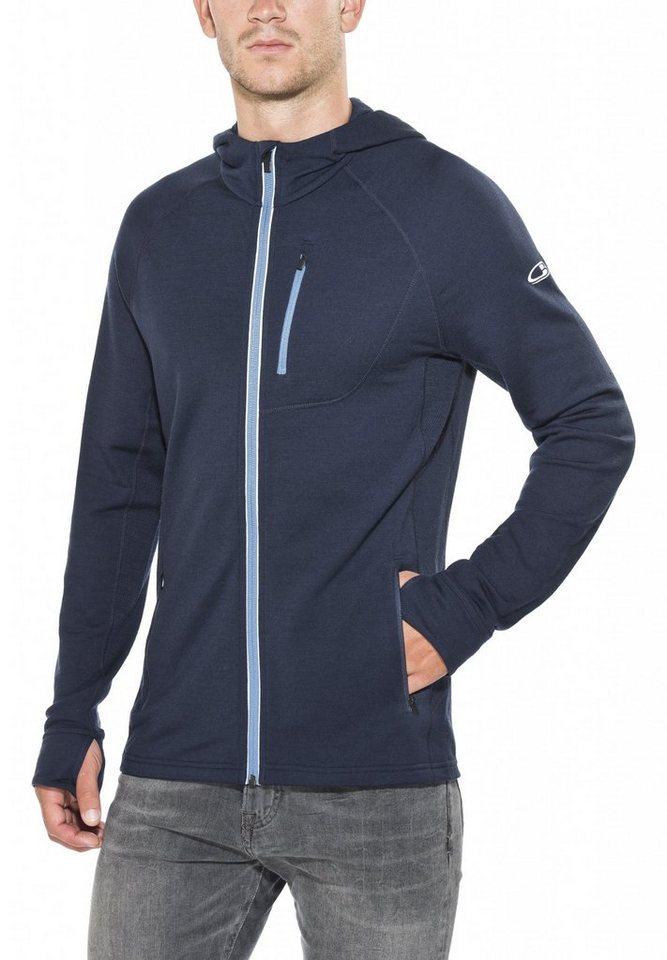 Icebreaker Pullover »Quantum LS Zip Hood Men« in blau