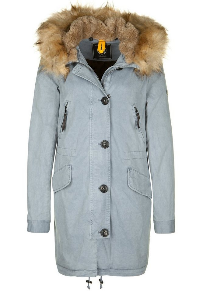 Blonde No.8 Parka »ASPEN FAKE FUR« in smoke blue