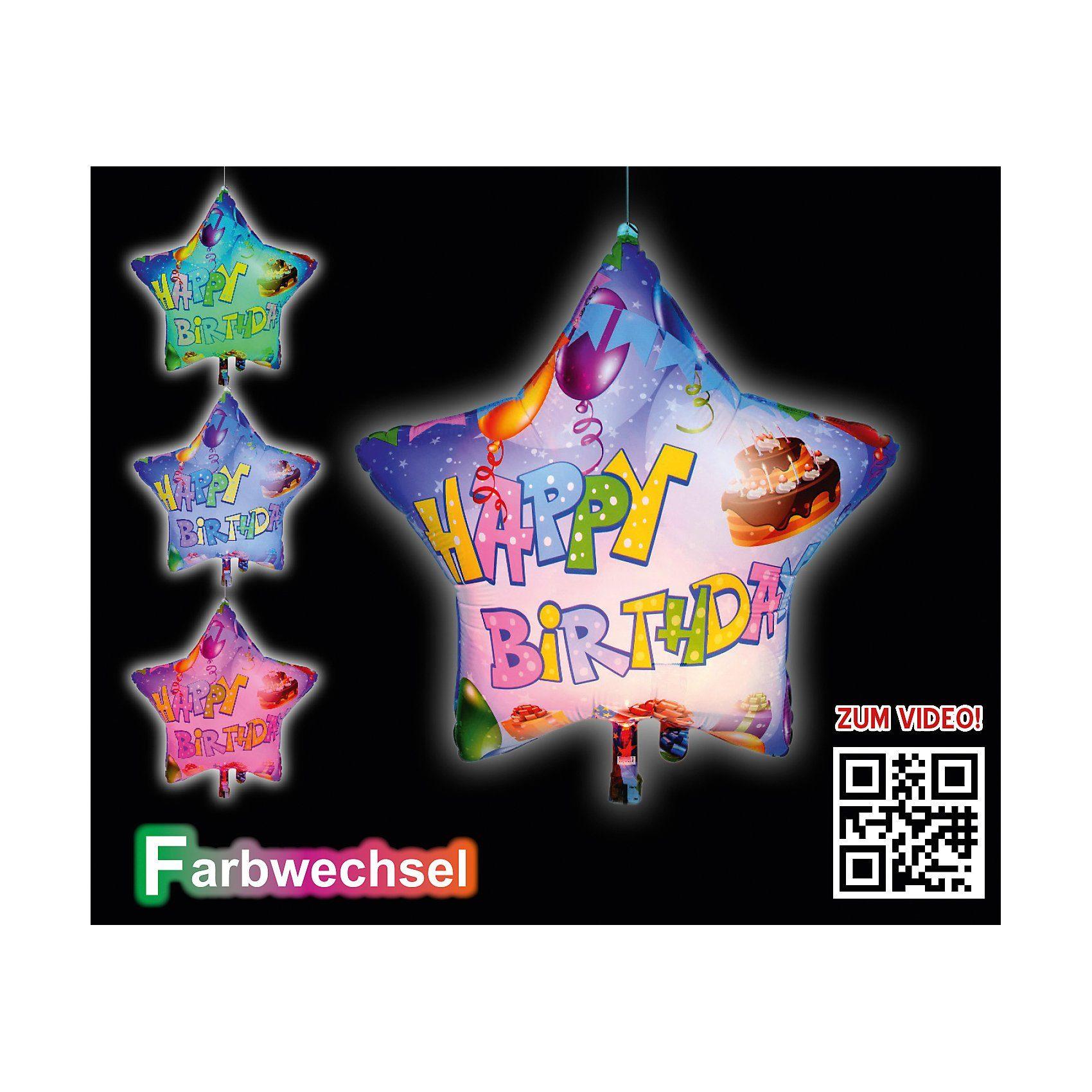 Happy People LED-Folienballon Happy