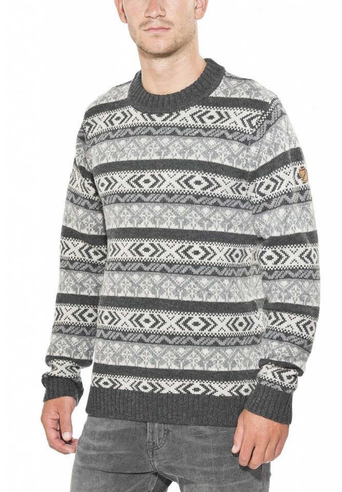 FJÄLLRÄVEN Pullover »Övik Folk Knit Sweater Men« in grau