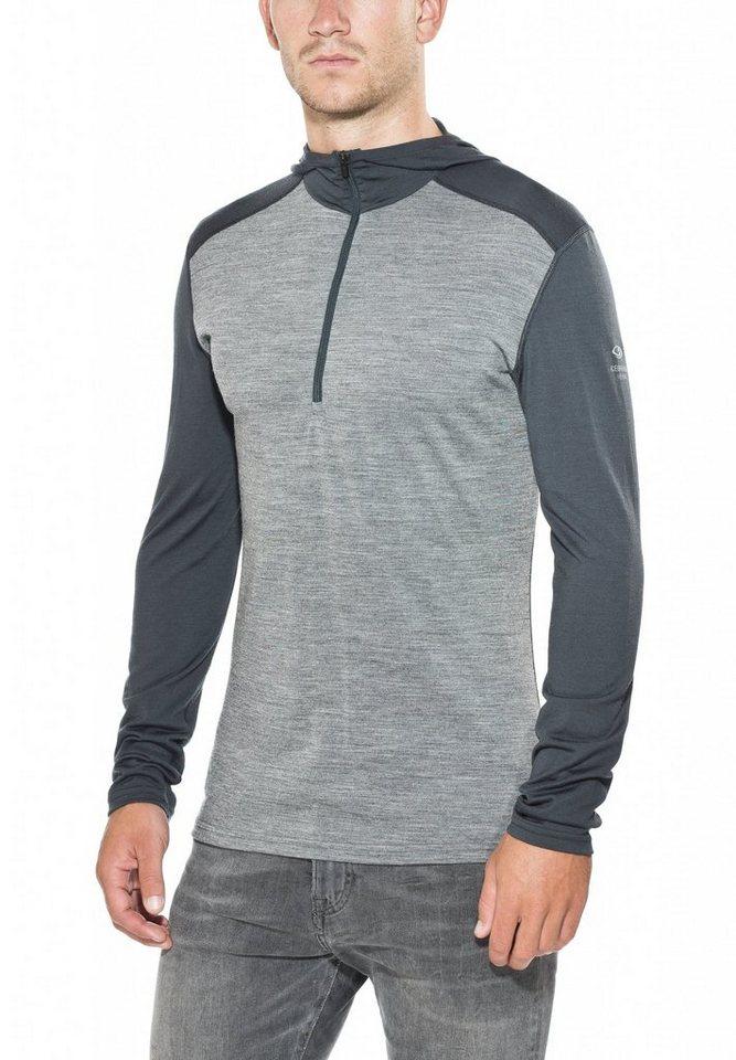 Icebreaker Pullover »Oasis LS Half Zip Hood Men« in grau