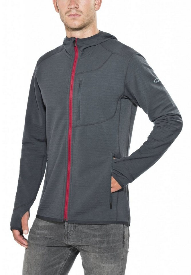 Icebreaker Pullover »Descender LS Zip Hood Men« in blau