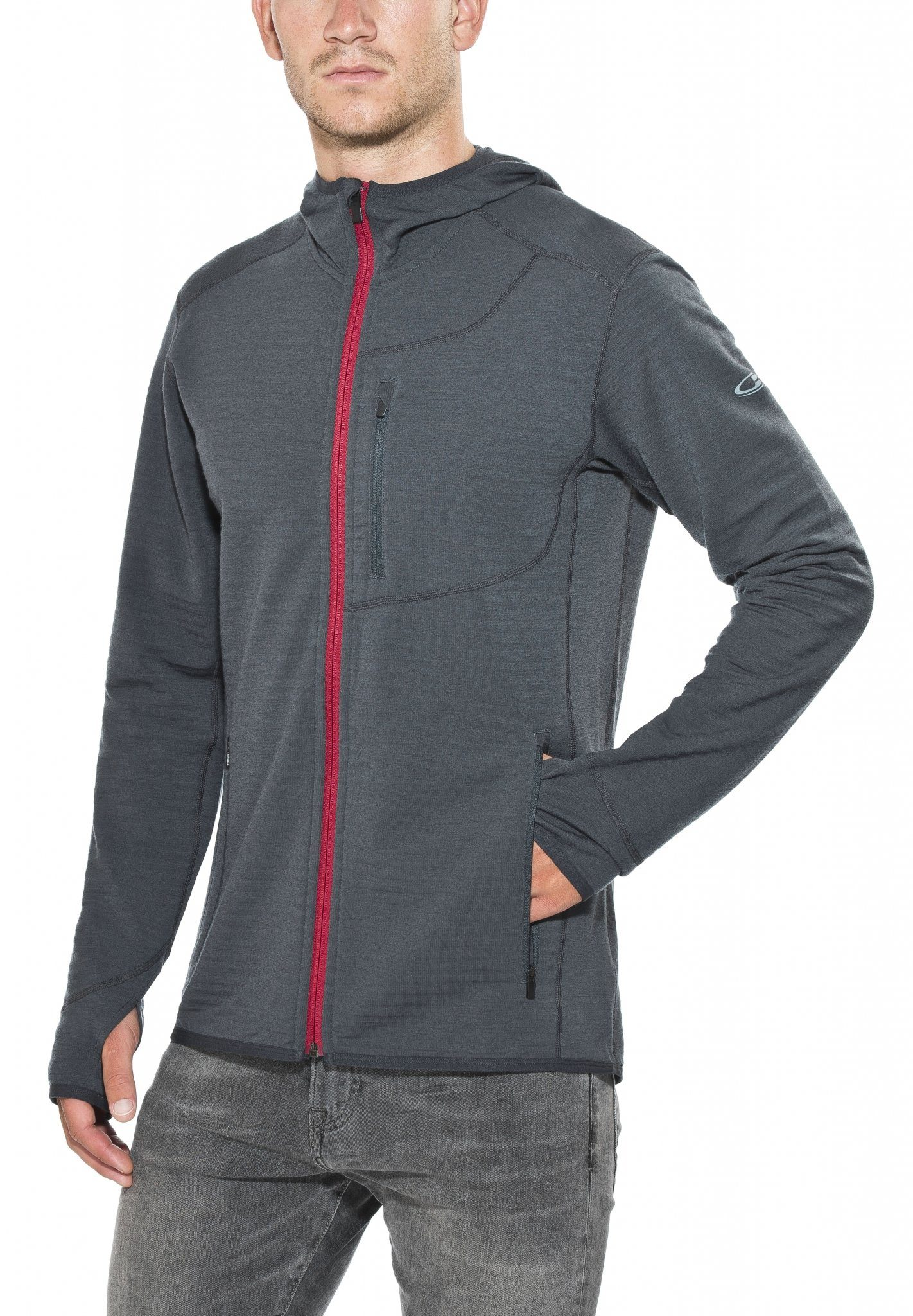 Icebreaker Pullover »Descender LS Zip Hood Men«
