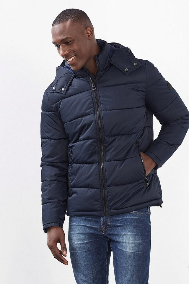 EDC Steppjacke mit Zipp-off-Kapuze in NAVY