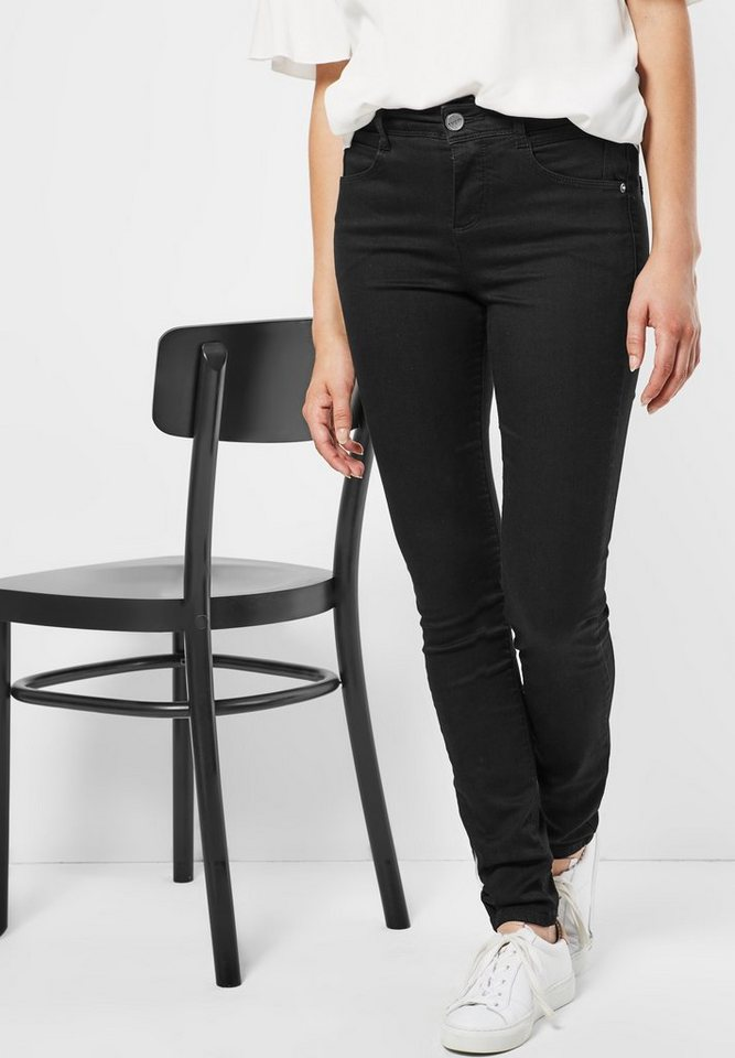 Street One Casual Fit Jeans Emmi in black