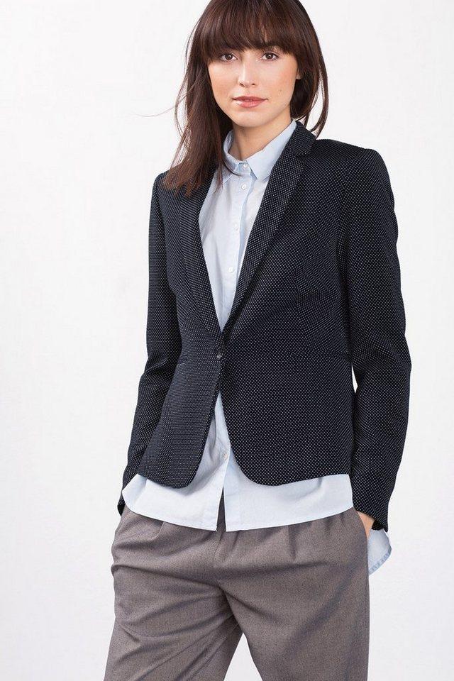 ESPRIT CASUAL Taillierter Jersey-Blazer in NAVY