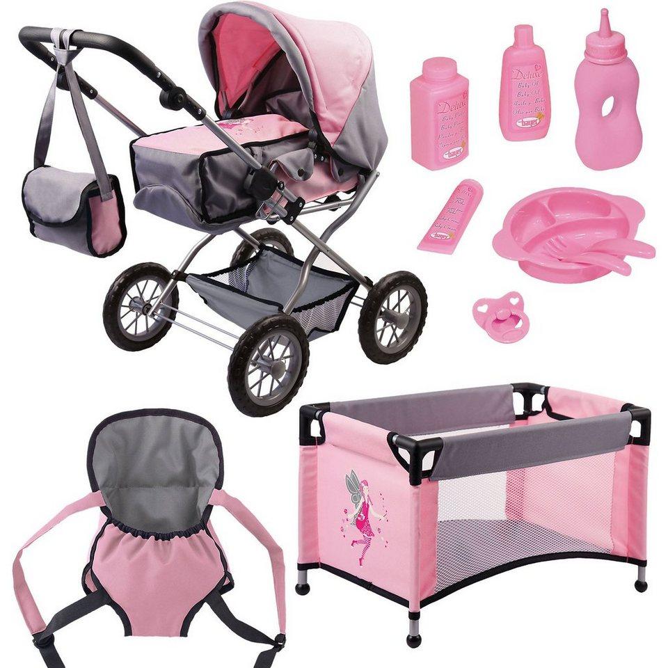 BAYER Kombi-Puppenwagen und Komplett-Set für die Babypuppe