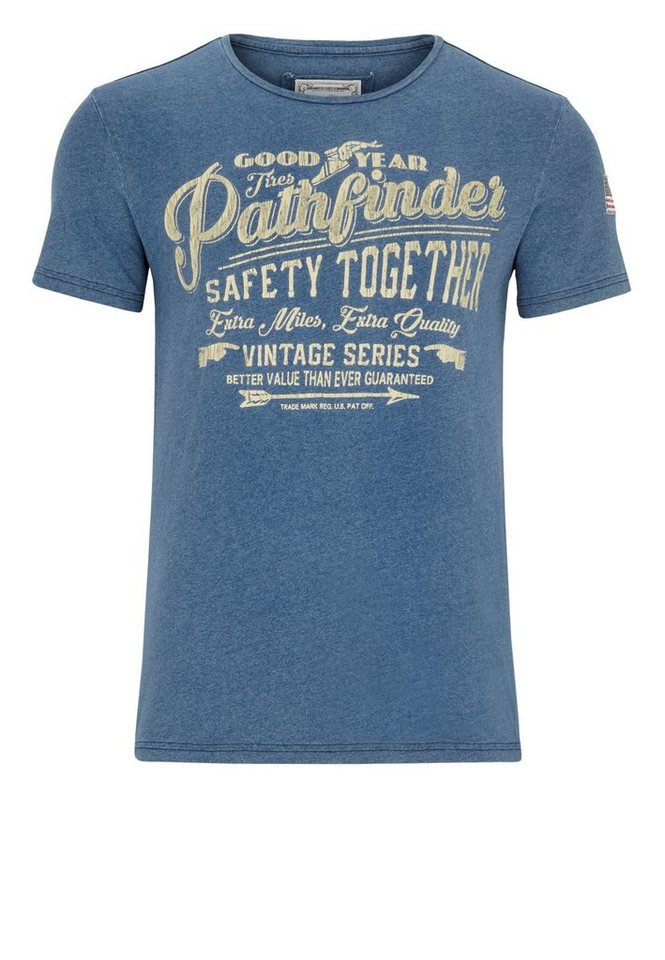 Goodyear T-Shirt SOMERS »SOMERS« in Vintage Blue