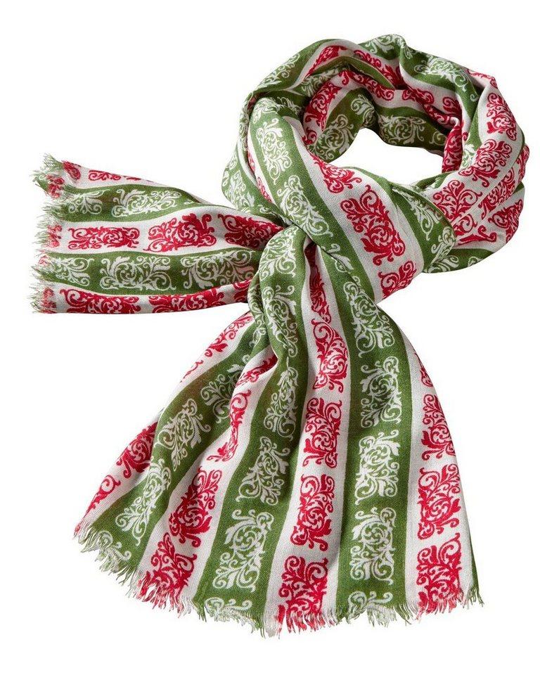Reitmayer Schal in Grün/Weiß/Rot