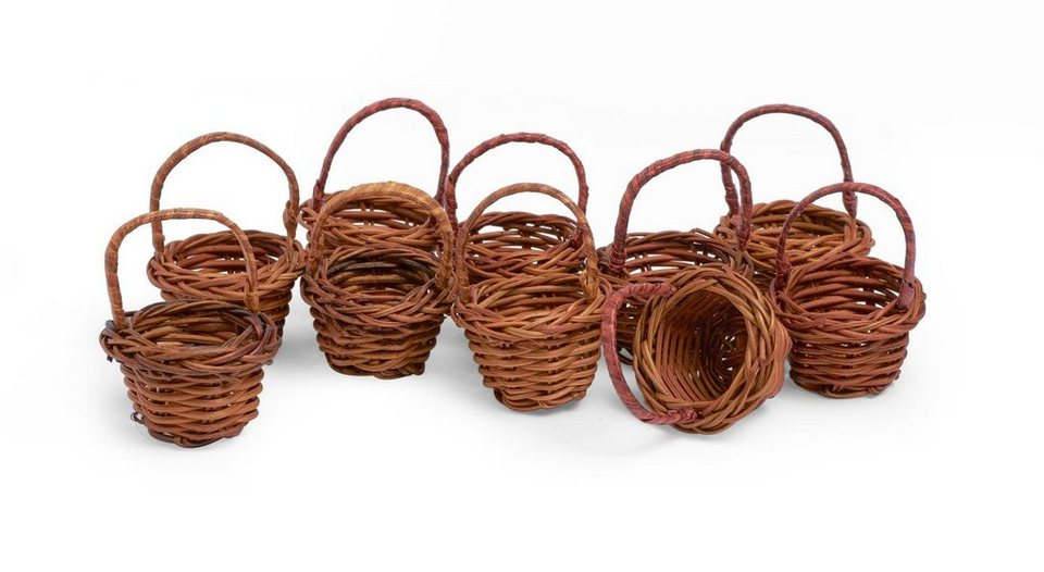 Vbs gro handelspackung 10 k rbchen miniatur korb deko korb for Korb deko