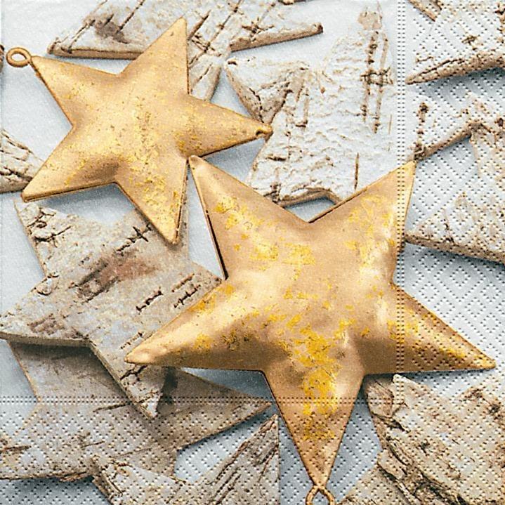 """Serviette """"Goldene Sterne"""""""