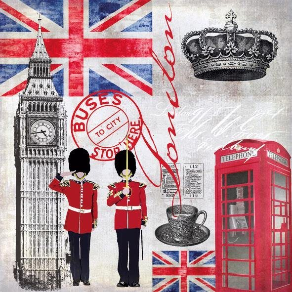 "Serviette ""London Time"""
