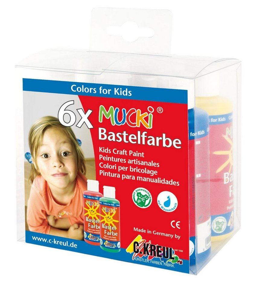 Mucki Bastelfarbe 6er Set Malfarbe Kinder Malen