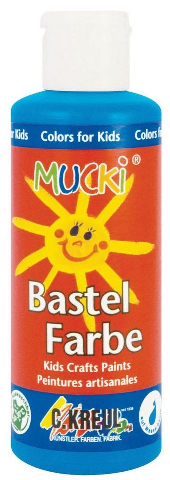 Kreul 80 ml Mucki Bastelfarbe Malfarbe in Primärblau