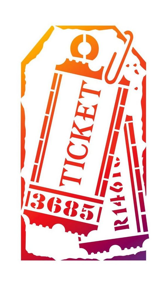 "Viva Decor Schablone ""Etikett Tickets"", DIN A5"