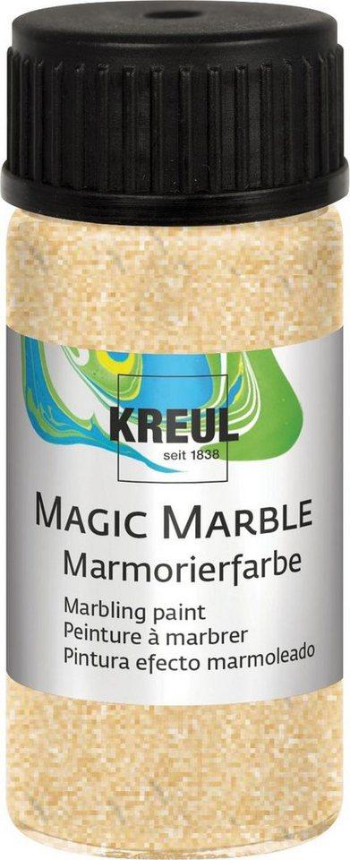 Kreul Marmorier-Farbe Tauchmarmorieren 20 ml in Glitzer-Gold