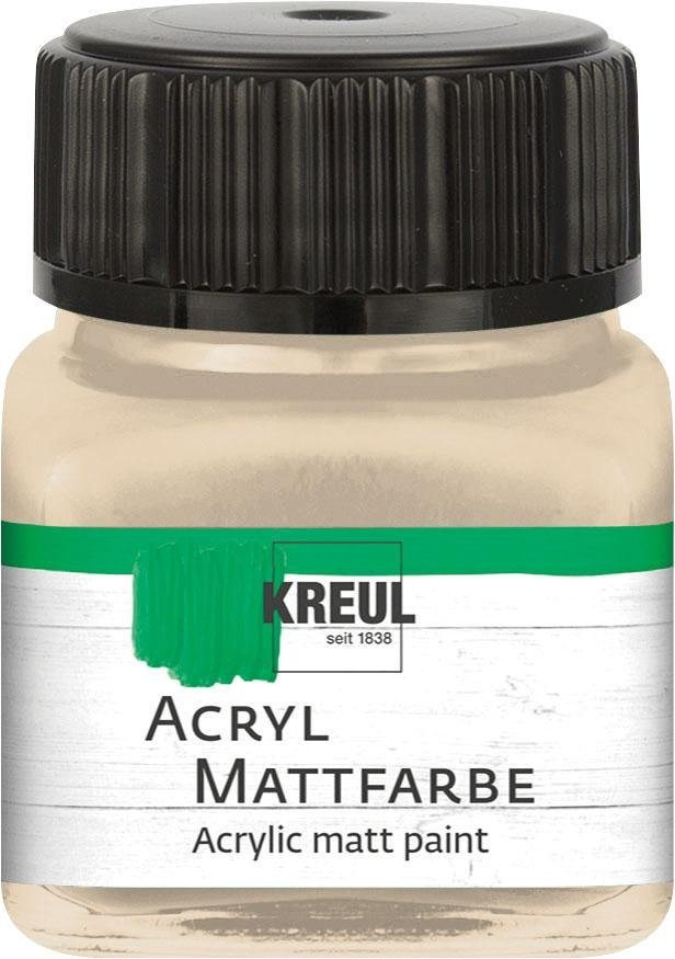 Kreul Acryl Mattfarbe, 20 ml in Champagner