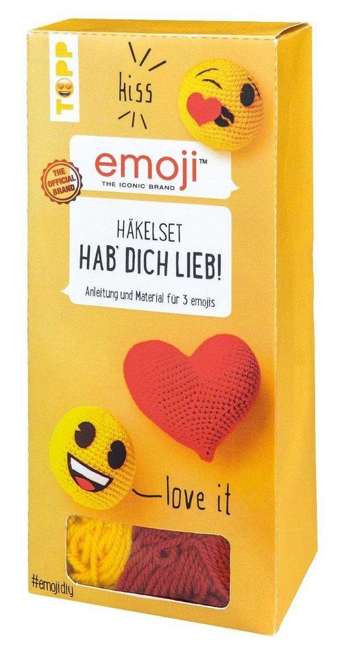 "Emoji Häkelset ""Hab Dich lieb!"""