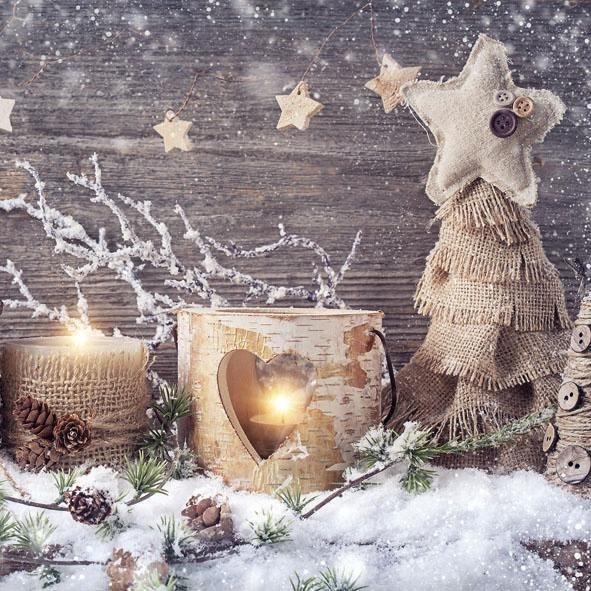 """Serviette """"Natürliche Weihnacht"""""""