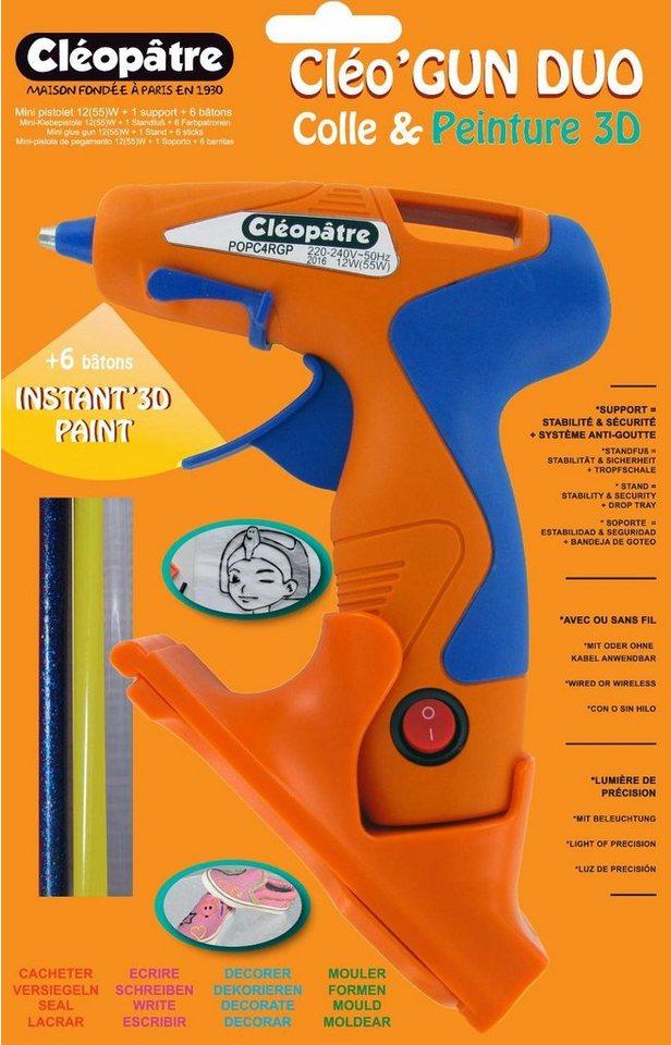 Cléopâtre Heißklebepistole Mini Kabellos inkl. 6 Patronen 55 Watt online kaufen
