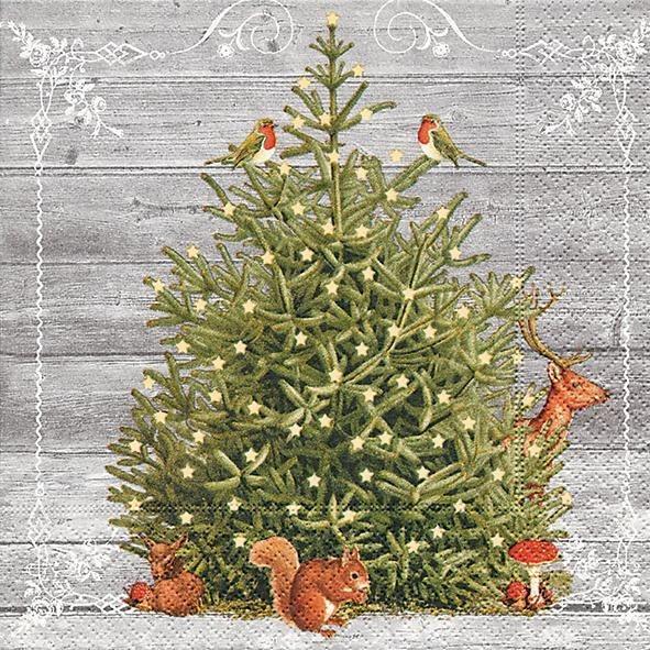 """Serviette """"Tierische Weihnacht"""""""