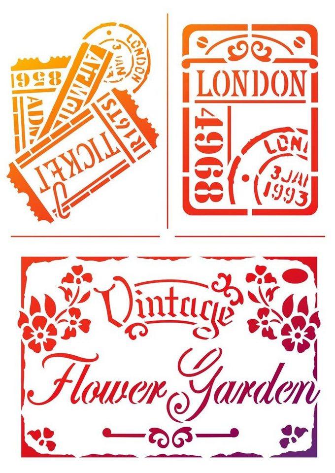 """Viva Decor Schablone """"Vintage Flower Garden"""", DIN A4 Malschablone online kaufen"""