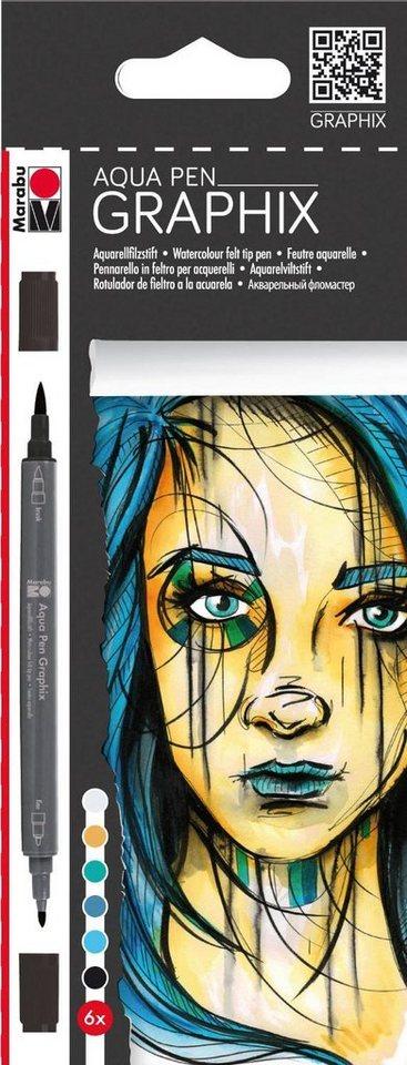 """Marabu Graphix Aqua Pen """"Metropolitan"""", 6tlg."""