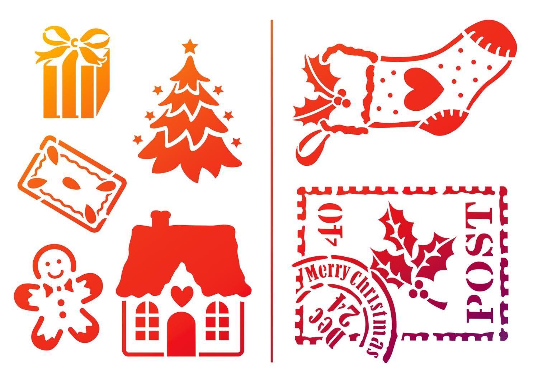 """Viva Decor Schablone """"Kleine Weihnachtsmotive"""", DIN A5"""