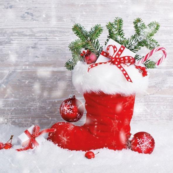 """Serviette """"Santas Stiefel"""""""
