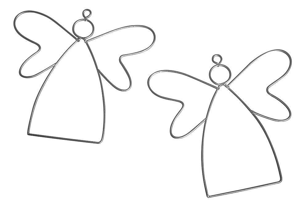 Draht-Engel, 2 Stück