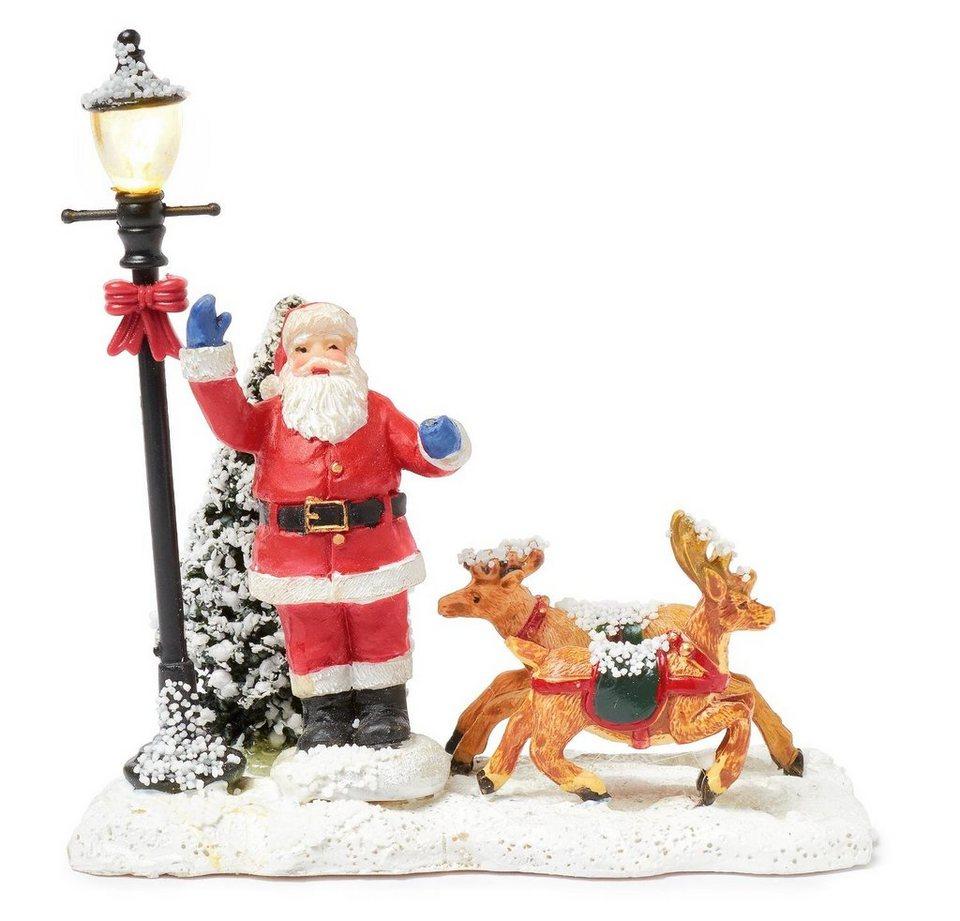 VBS Miniatur-Weihnachtsmann mit LED Laterne