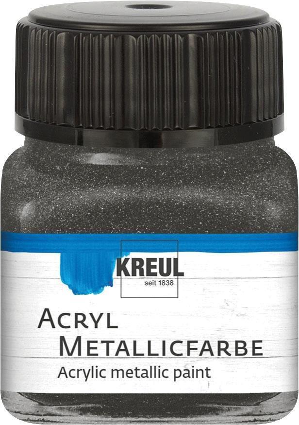 Kreul Acryl Metallicfarbe, 20 ml in Anthrazit