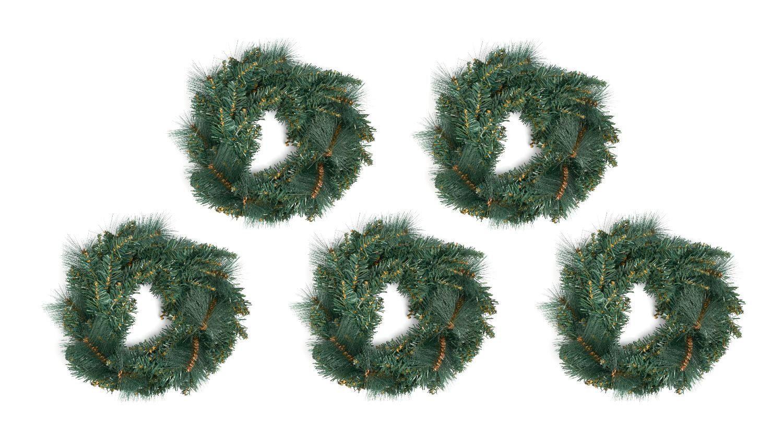 """Weihnachtsdeko """"Tannenkränze 40 cm"""" 5 Stück"""