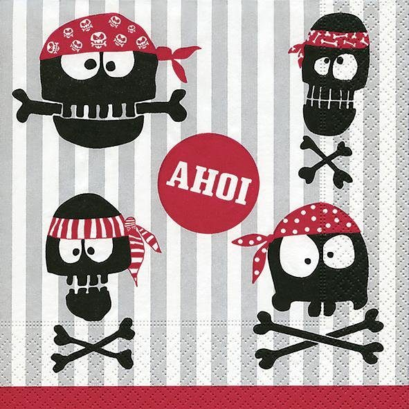 "Serviette ""Pirates Ahoi"""