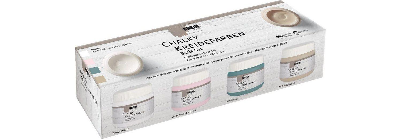 KREUL Chalky Kreidefarben Basis-Set, 4 x 150 ml