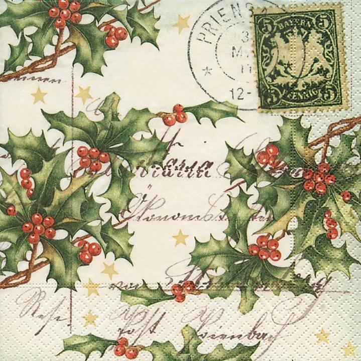 """Serviette """"Weihnachtsbrief"""""""