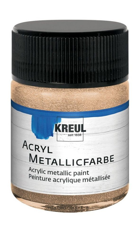 Kreul Acryl Metallicfarbe, 50 ml in Champagner