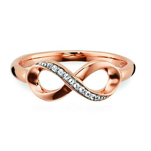 CAÏ Ring »925/- Sterling Silber rotvergoldet Topas«