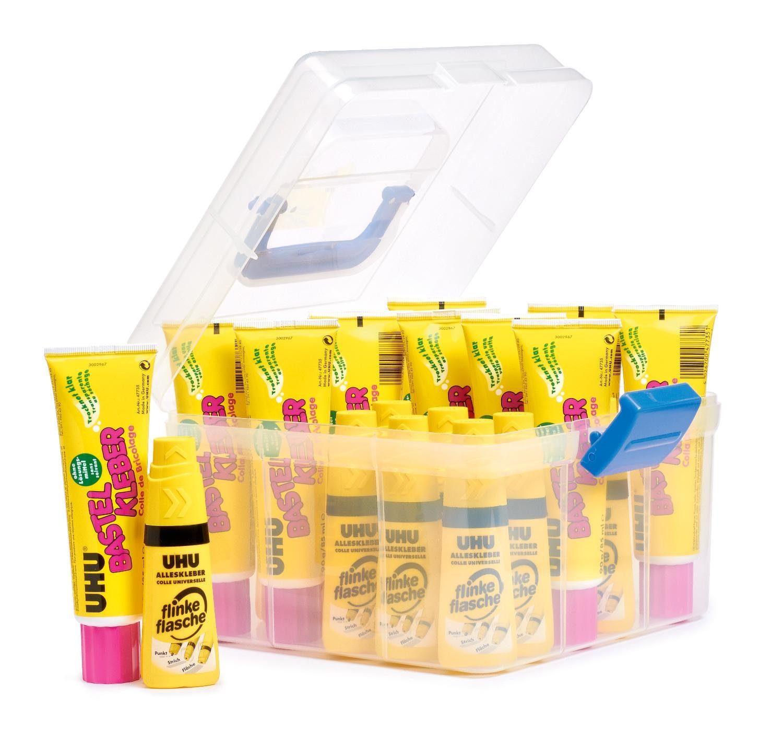 20 Kleber Bastelkleber Uhu Klebstoff inkl. Box